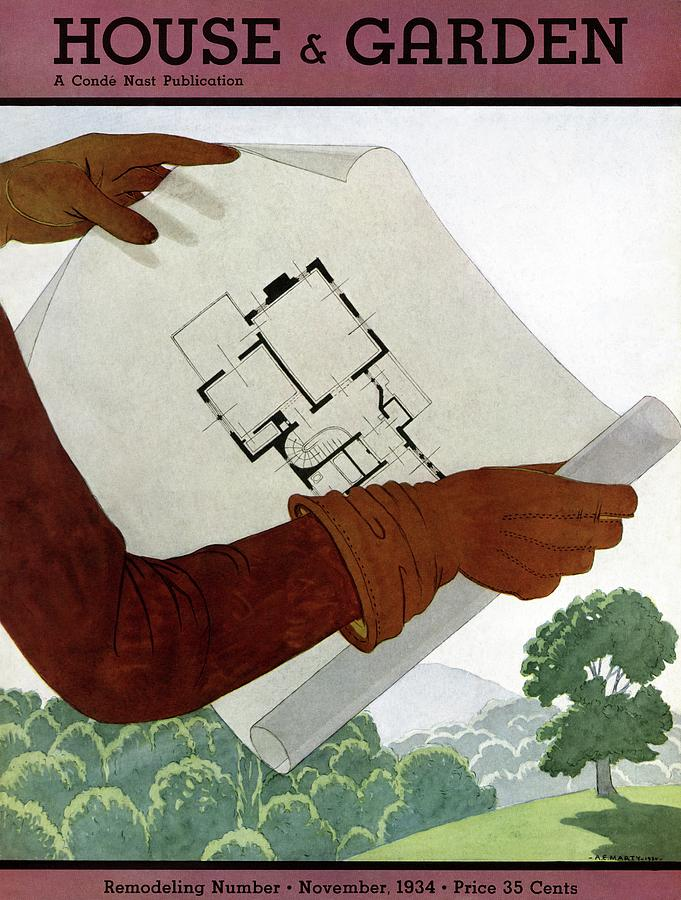 House & Garden Cover Illustration Of A Pair Photograph by Georges Lepape
