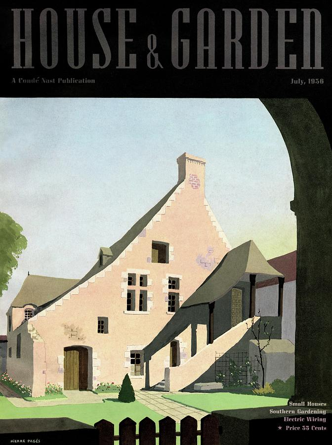 House & Garden Cover Illustration Of An Historic Photograph by Pierre Pages
