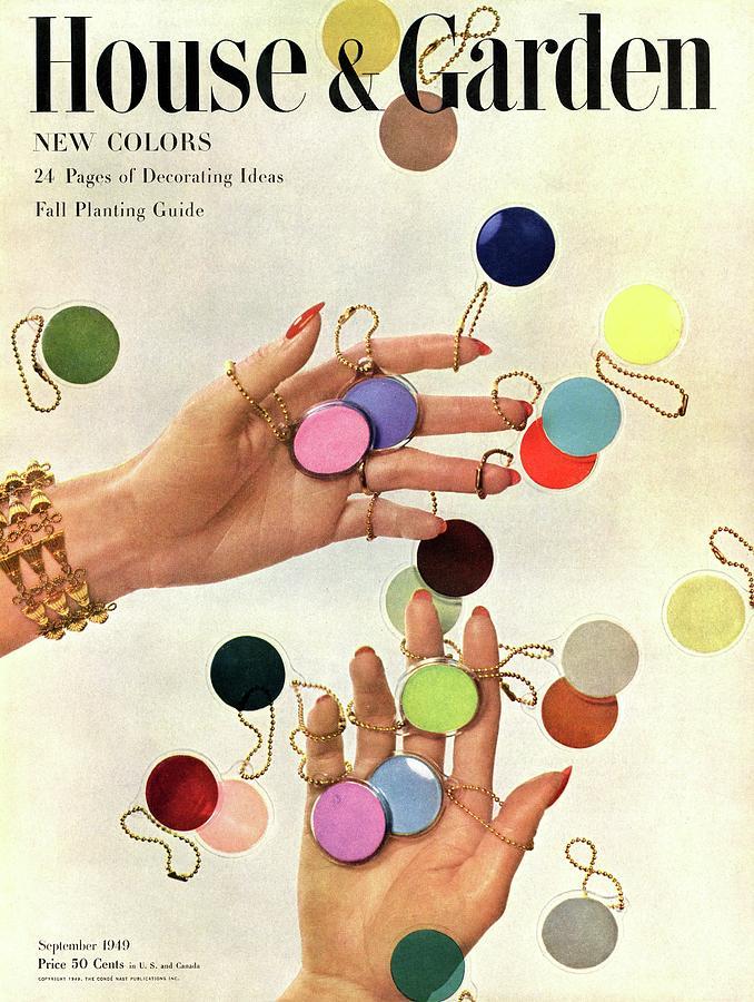 House & Garden Cover Of Womans Hands With An Photograph by Herbert Matter