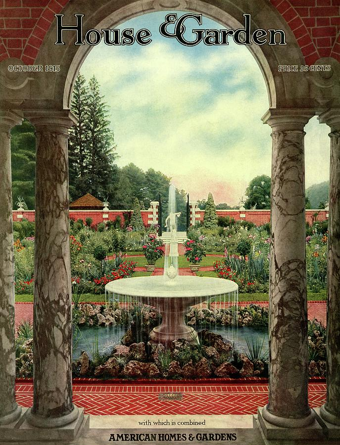 House And Garden Cover Photograph by Herbert Angell