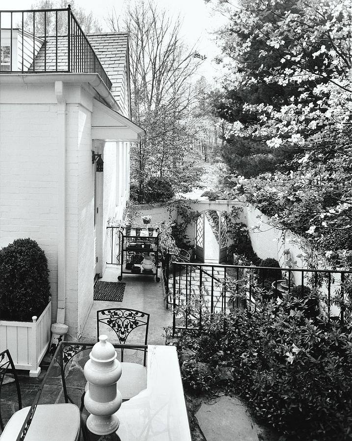 House And Garden Exterior Photograph by Pedro E. Guerrero
