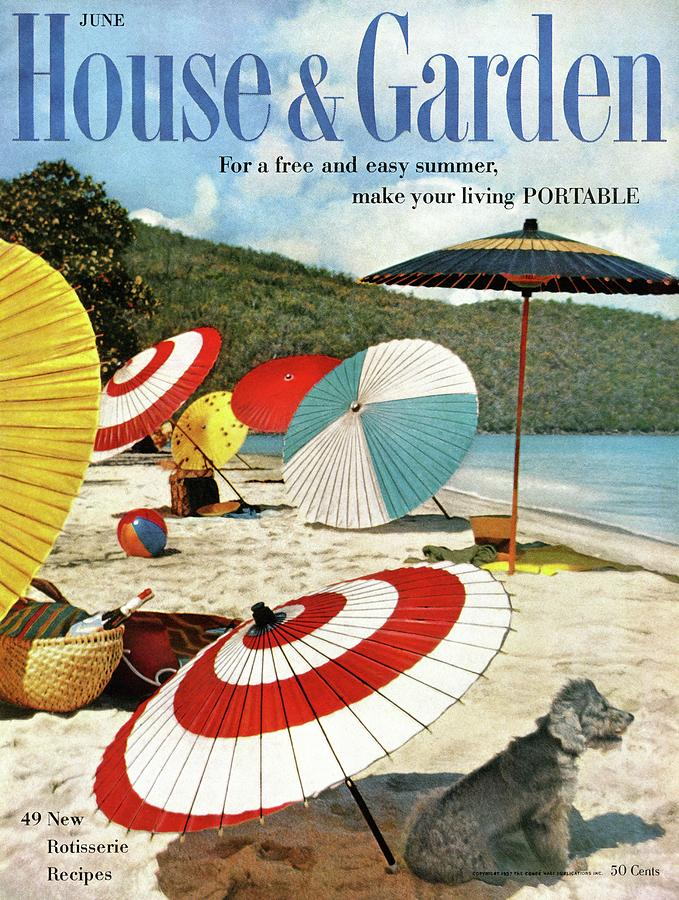 House And Garden Featuring Umbrellas On A Beach Photograph by Otto Maya & Jess Brown