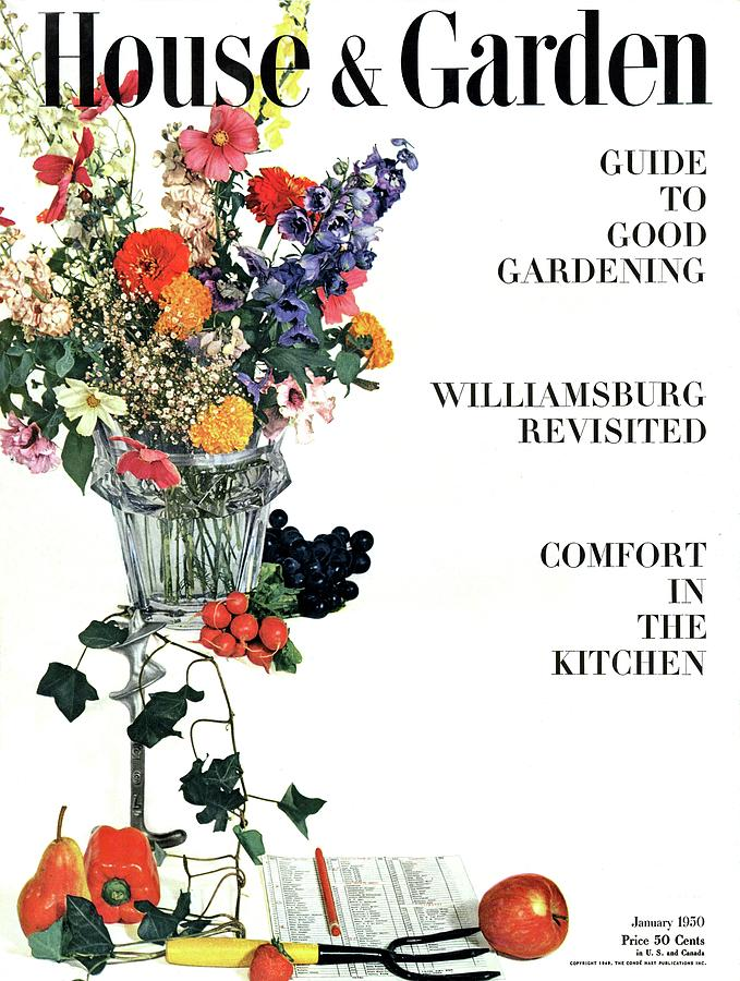 House And Garden Guide To Good Gardening Cover Photograph by Herbert Matter