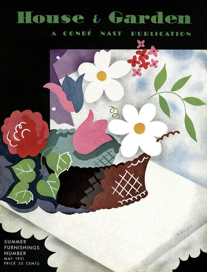 House And Garden Summer Furnishings Number Cover Photograph by Raymond Bret-Koch