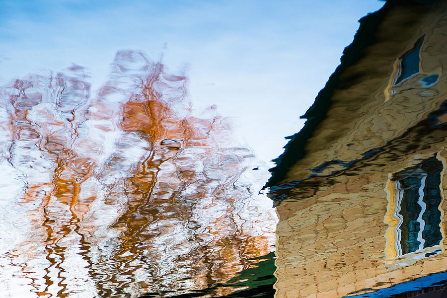 Abstract Photograph - House By The Lake by Alexander Senin