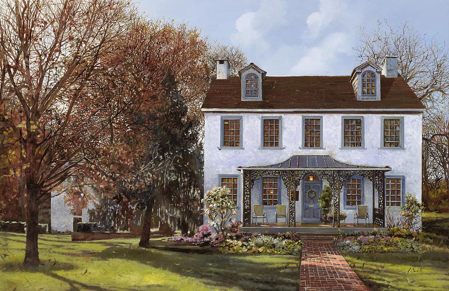 Du Portail Painting - house Du Portail  by Guido Borelli