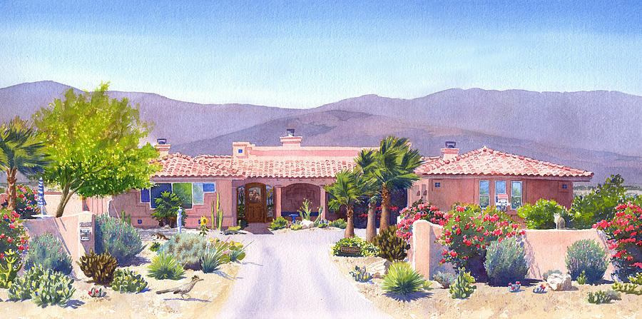 Borrego Springs Painting - House In Borrego Springs by Mary Helmreich