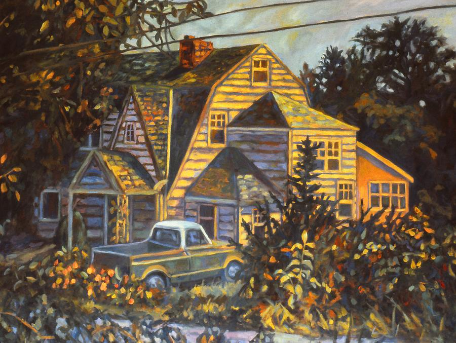 Home Flowers Painting - House in Christiansburg by Kendall Kessler