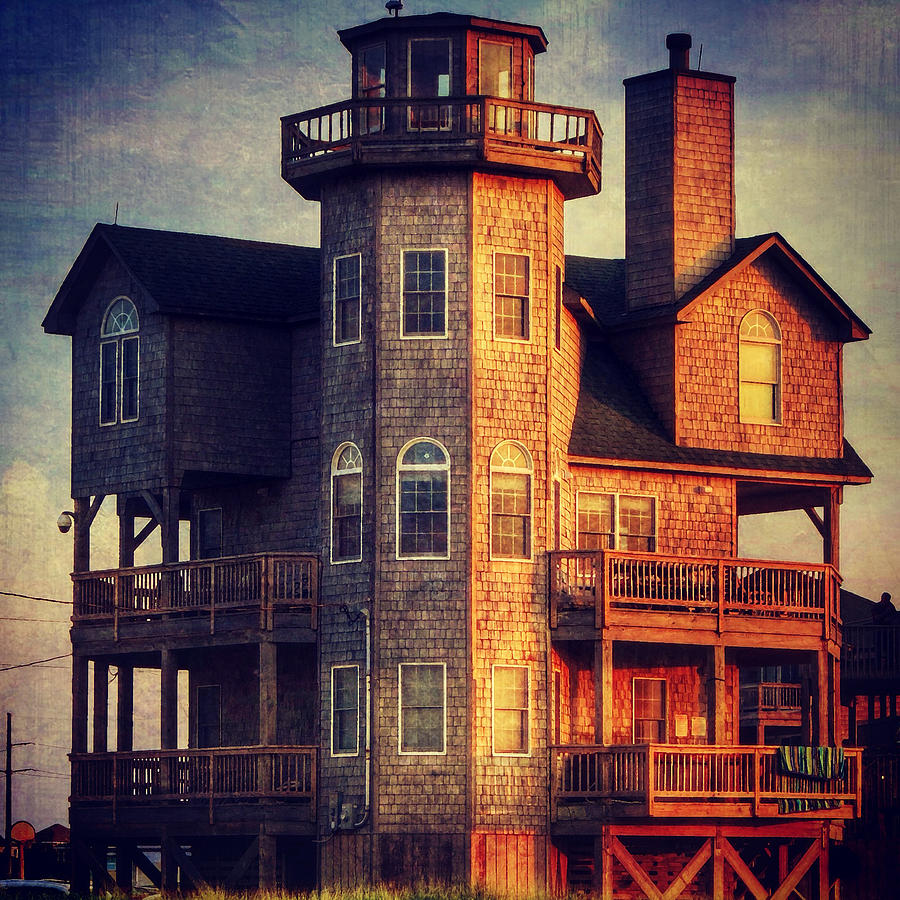 House In Rodanthe At Sunset Photograph