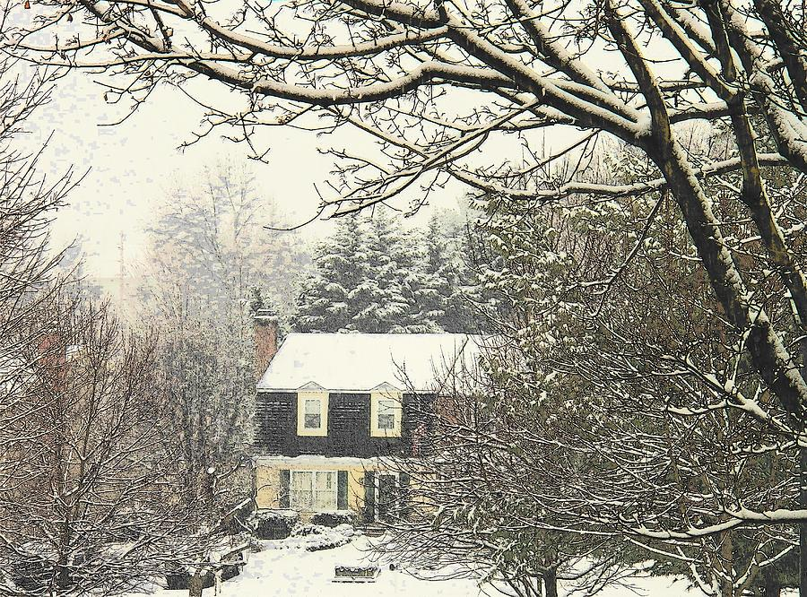 Snow Photograph - House In Snow by Joyce Kimble Smith