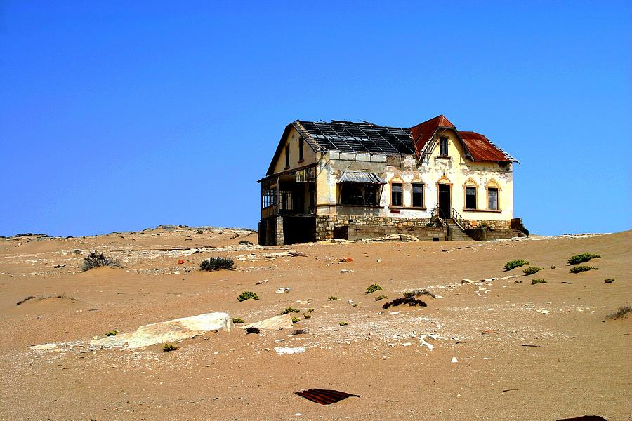 House Photograph - House In The Desert by Riana Van Staden