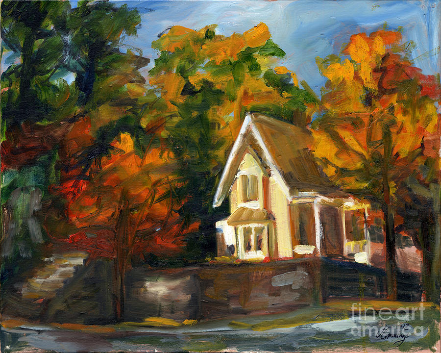 Landscape Painting - House In The Sun by Jessica Cummings