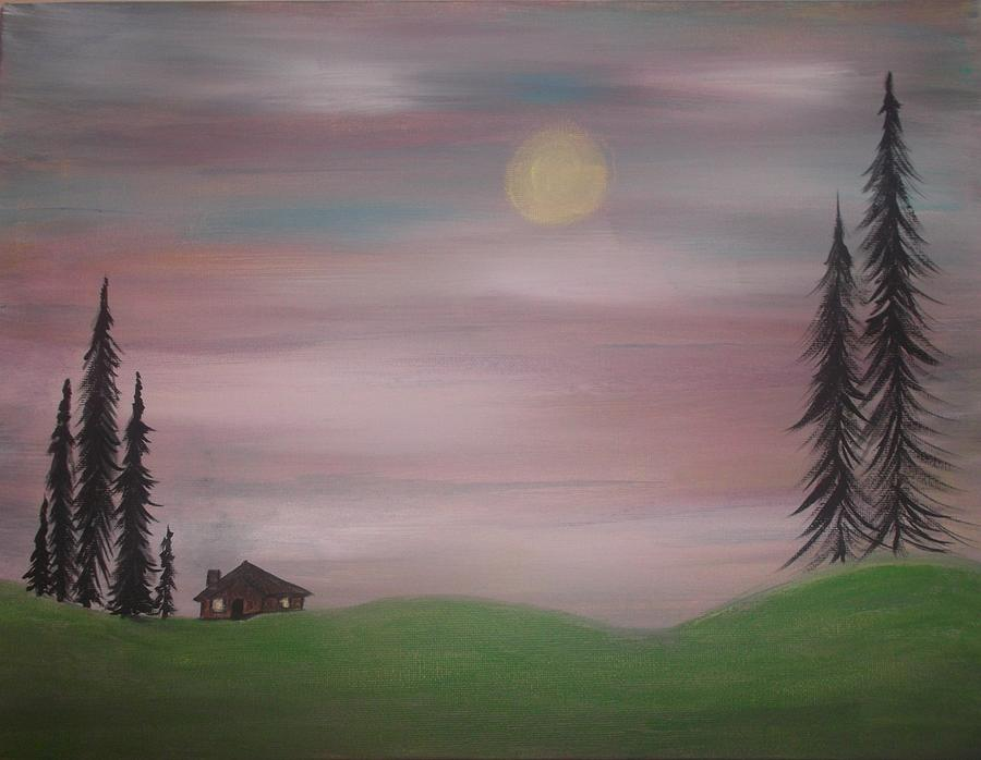 Nature Painting - House In The Woods by Tina Murray
