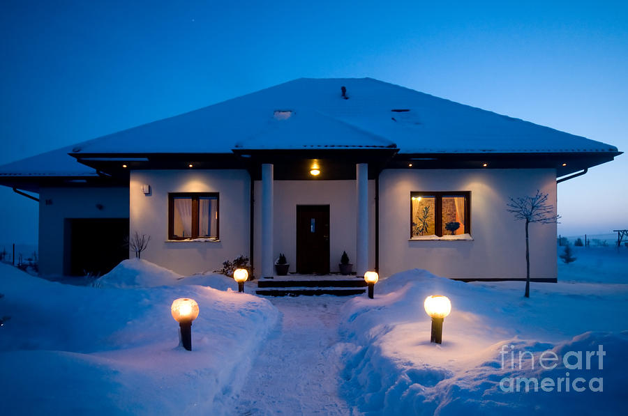 House Photograph - House In Winter by Michal Bednarek