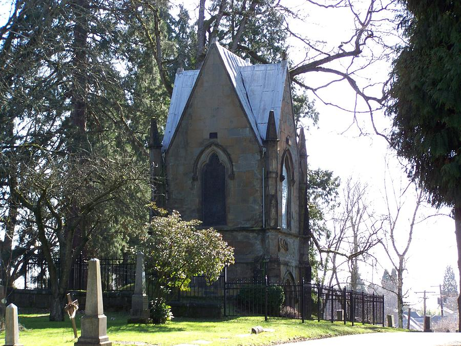 Cemetery Photograph - House Of Corpses 2 by Heather L Wright