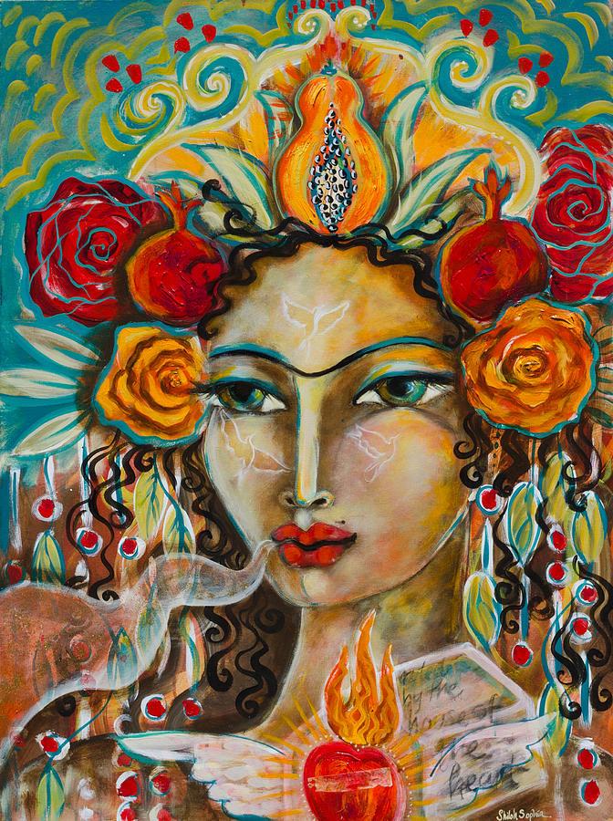Shiloh Sophia Painting - House Of The Heart by Shiloh Sophia McCloud