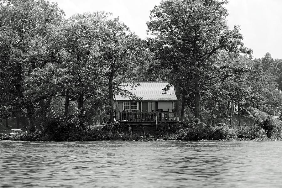 Lakes Photograph - House On An Island by Thomas Fouch