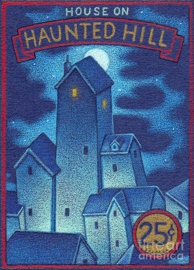 Haunted Drawing - House On Haunted Hill by Thomas Sciacca