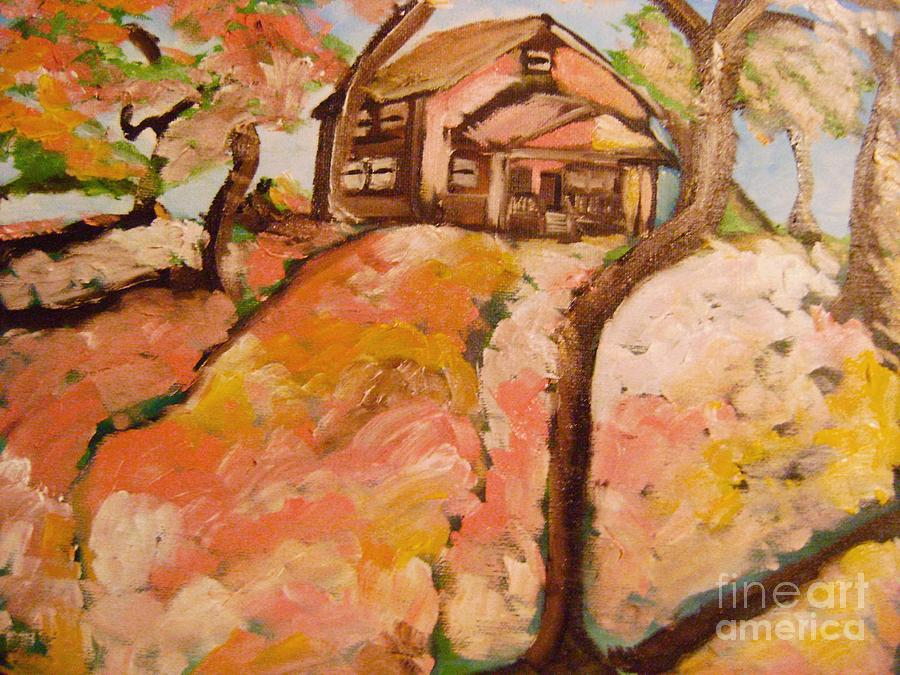 Landscapes Painting - House On The Hill by Sidney Holmes