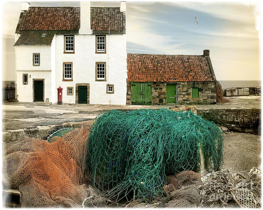 Horizontal Photograph - House On The Quay by Edmund Nagele