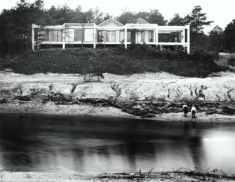House With Glass Gabled Roofs Near A Beach Photograph by Robert M. Damora