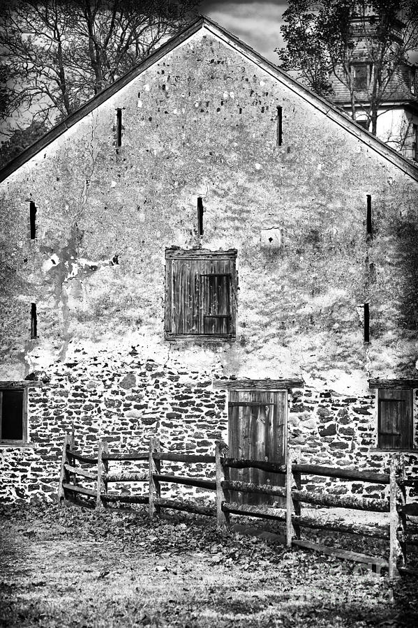 1800s Photograph - House With The Fence by John Rizzuto