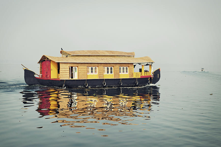 Houseboat Sailing On Vembanad Photograph by Brytta