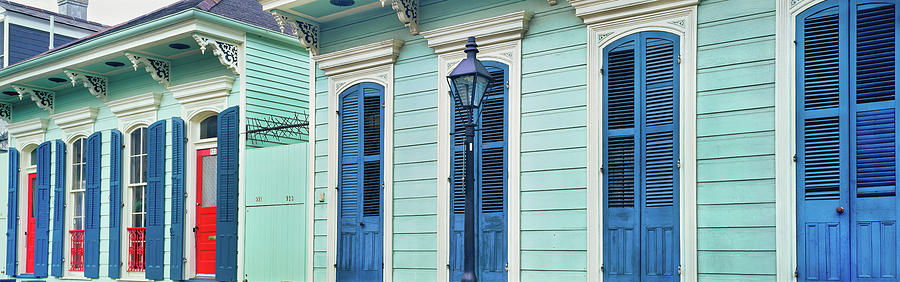 Horizontal Photograph - Houses Along A Street, French Quarter by Panoramic Images