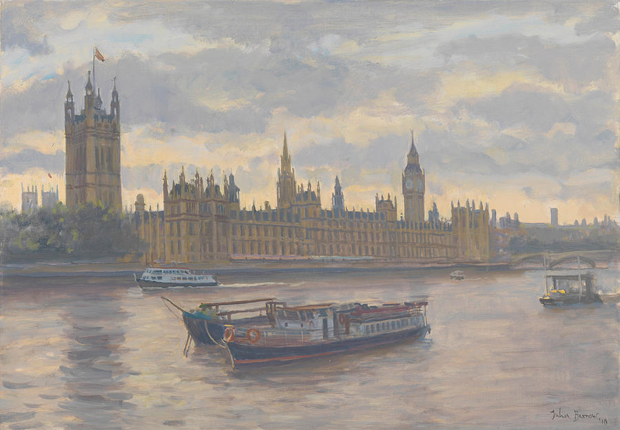 London Painting - Houses Of Parliament by Julian Barrow