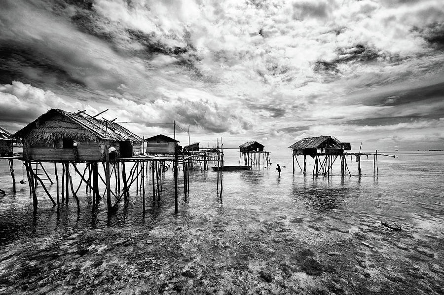Water Photograph - Houses  Of  The  Bajau by Andreas Kosasih