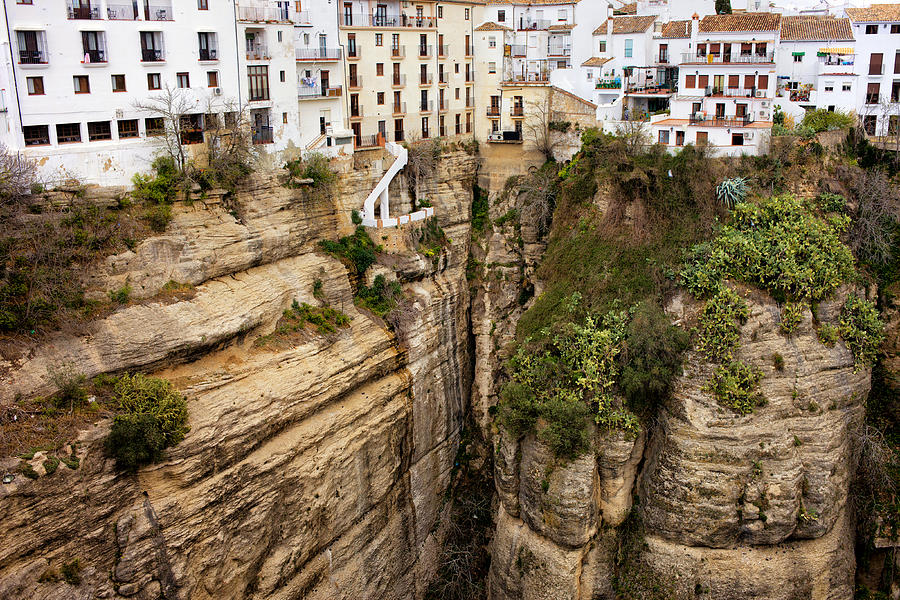 Andalucia Photograph - Houses On A Rock In Ronda by Artur Bogacki