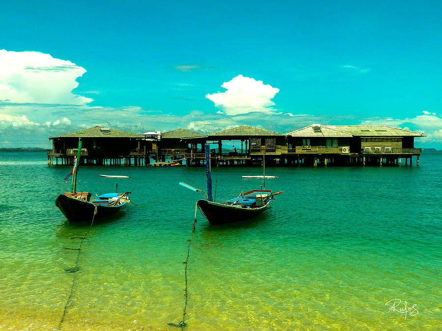Thailand Photograph - Houses on Stilts by Allan Rufus