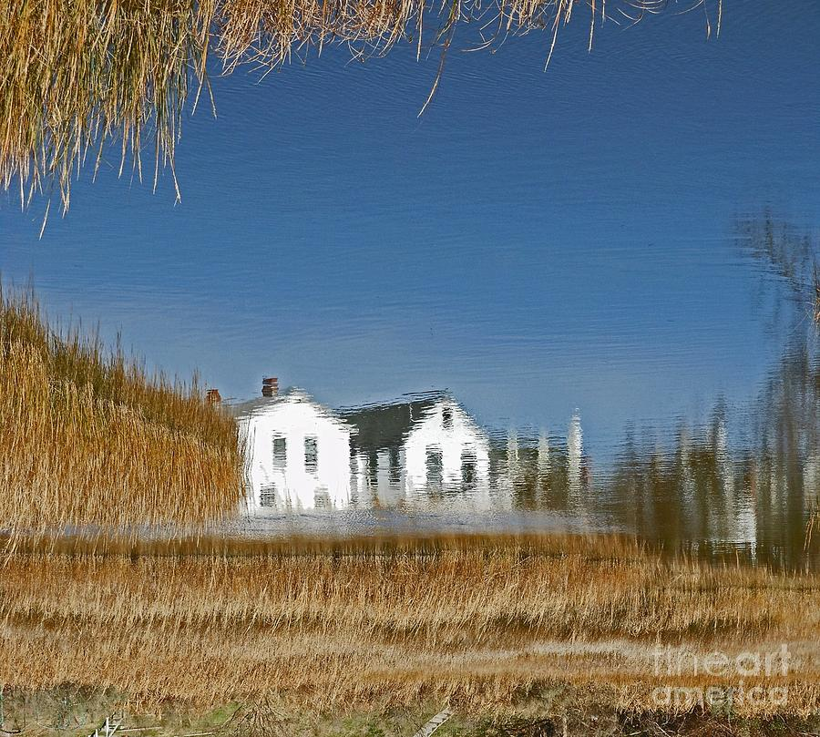 Reeds Photograph - Houses Under Water by Beebe  Barksdale-Bruner