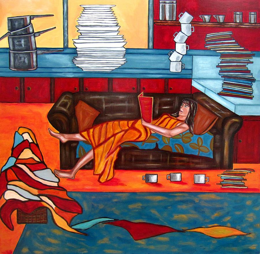 Portrait Painting - Housework by Sandra Marie Adams