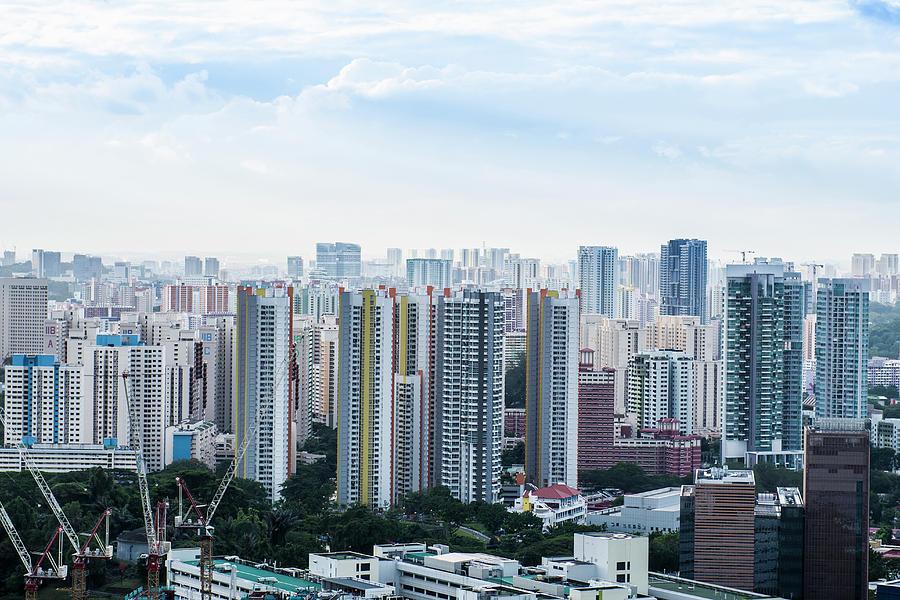 Housing Development, Singapore Photograph by John Harper