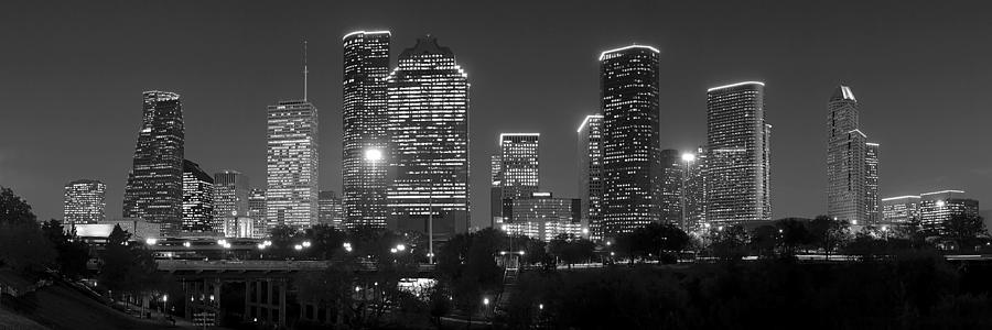 Houston Skyline At Nig...