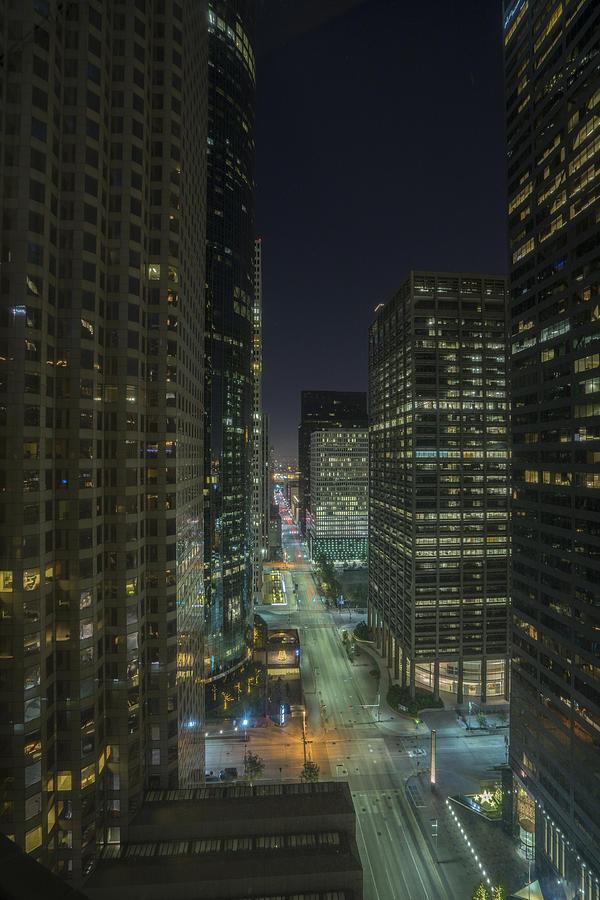 Houston Skyline Bird View Photograph