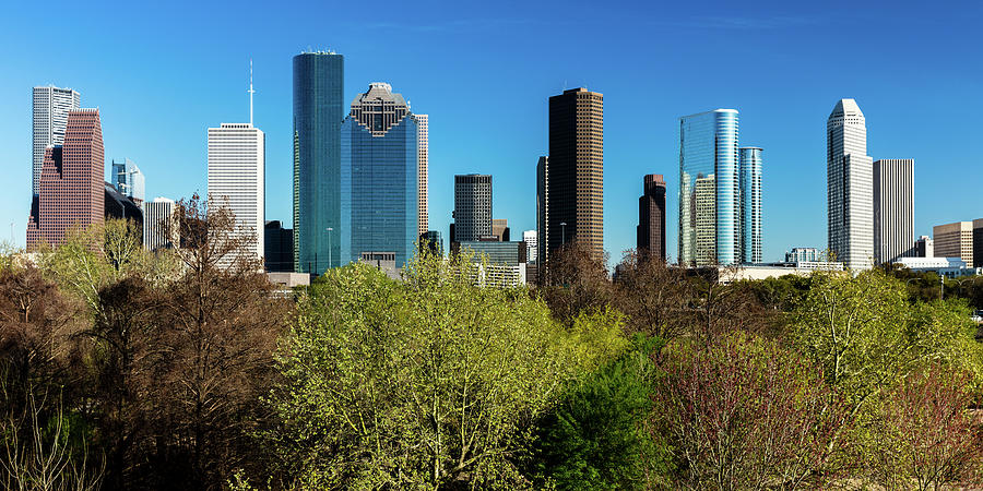 Horizontal Photograph - Houston Skyline, Houston, Texas by Panoramic Images
