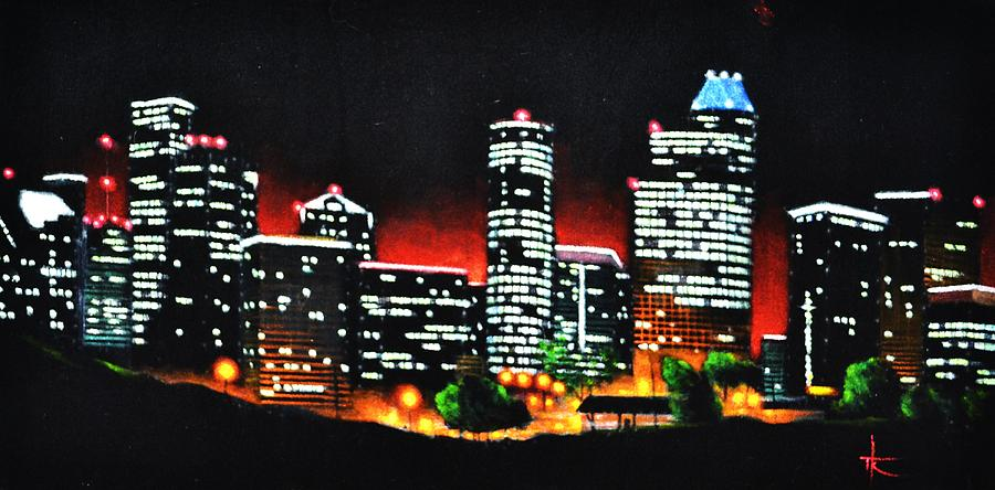 Houston Skyline Painting - Houston Skyline by Thomas Kolendra