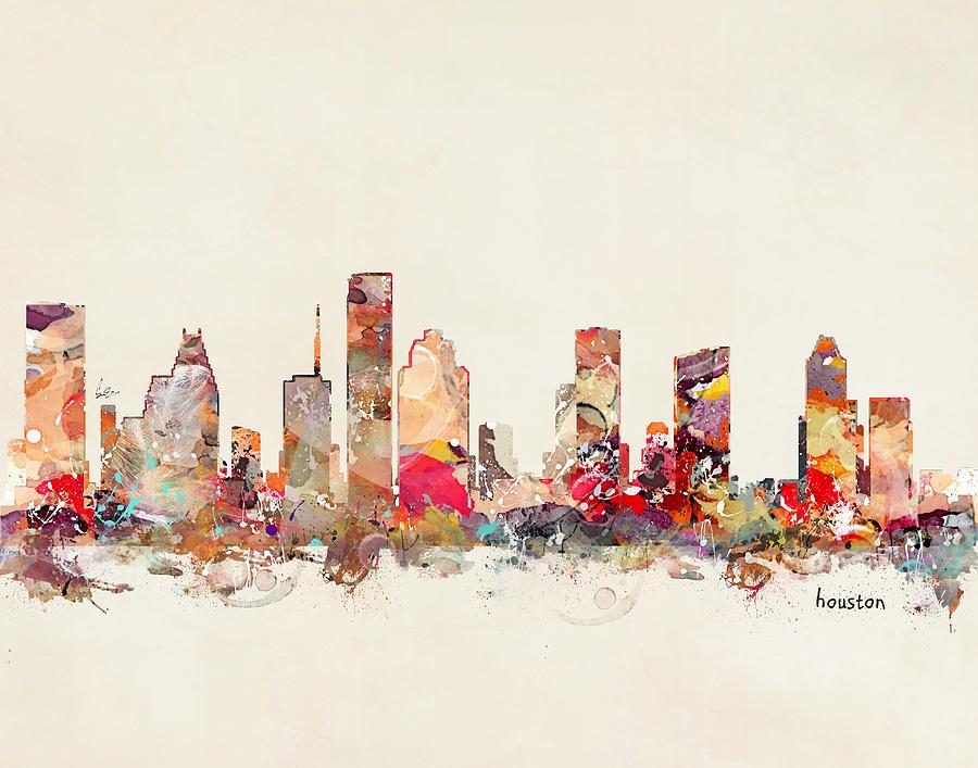 Houston Texas Painting - Houston Texas by Bri Buckley
