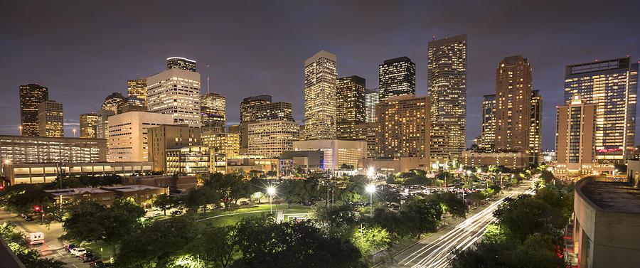 Houston Texas Skyline Panorama Photograph by Pgiam