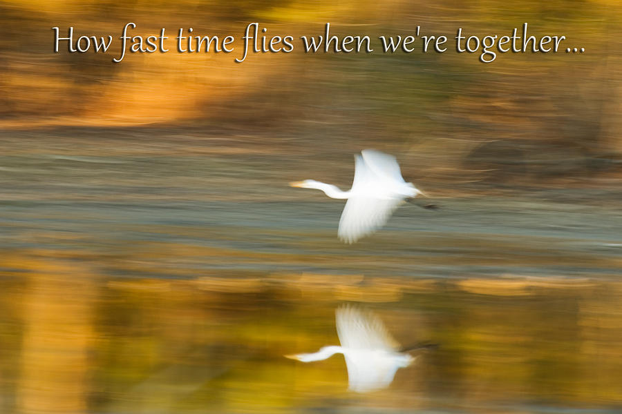 Greeting Card Photograph - How Fast Time Flies When Were Together by Jeff Abrahamson