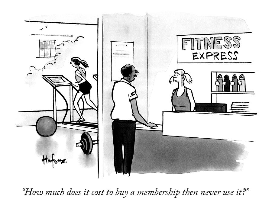 How Much Does It Cost To Buy A Membership Drawing by Kaamran Hafeez