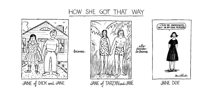 How She Got That Way Drawing by Stuart Leeds
