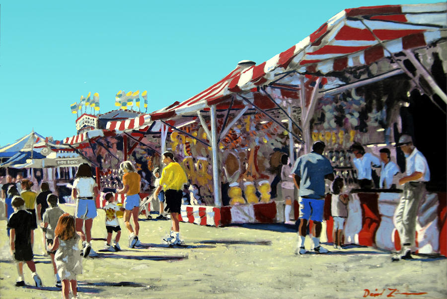 howard county fair painting by david zimmerman