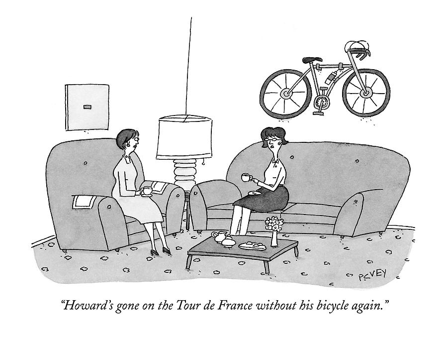 Howards Gone On The Tour De France Drawing by Peter C. Vey