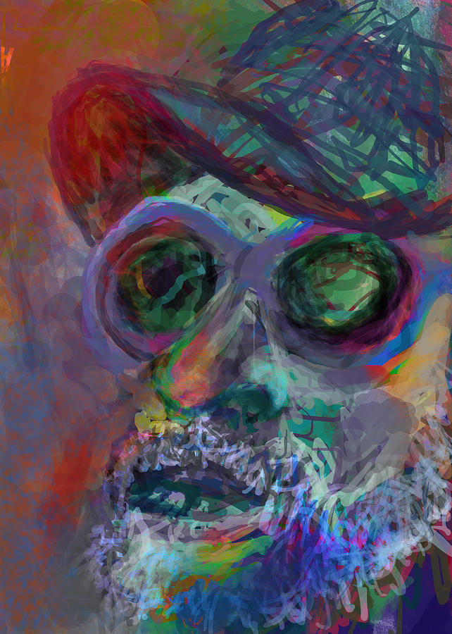 Hippy Digital Art - Howdy by James Thomas