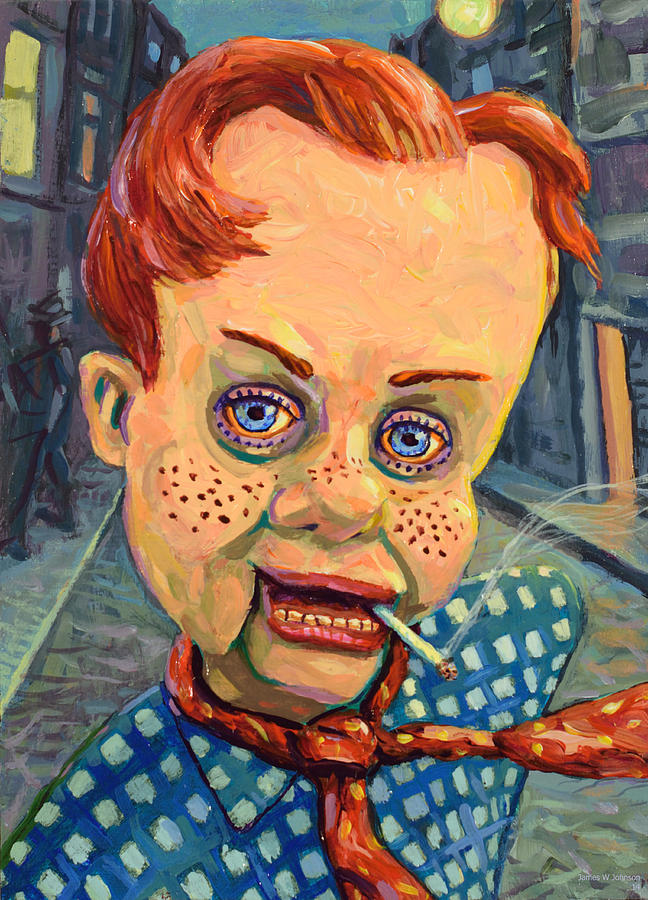Howdy Doody Painting - Howdy Von Doody by James W Johnson