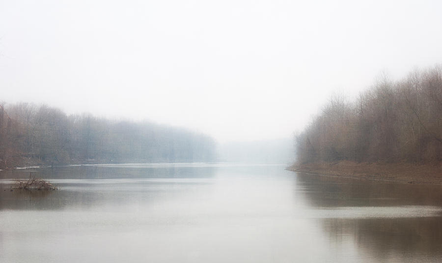 River Photograph - Howell Island In The Fog by Jay Swisher