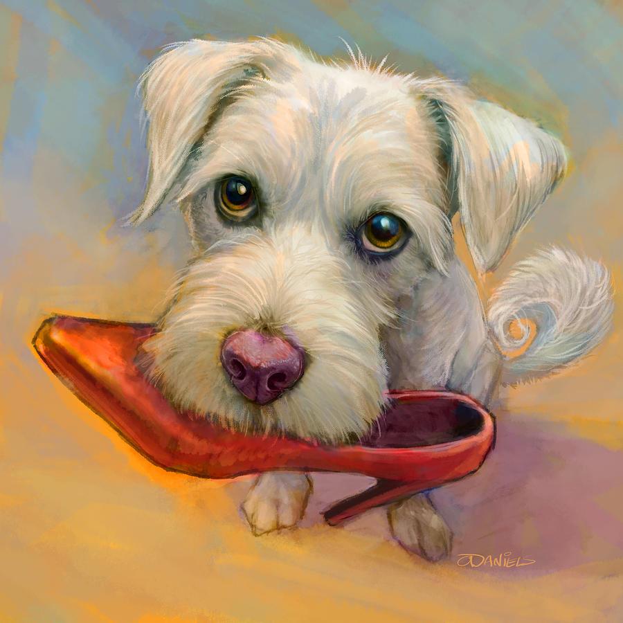 Dogs Painting - A Girls Best Friend by Sean ODaniels